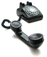 Rotary phone off hook