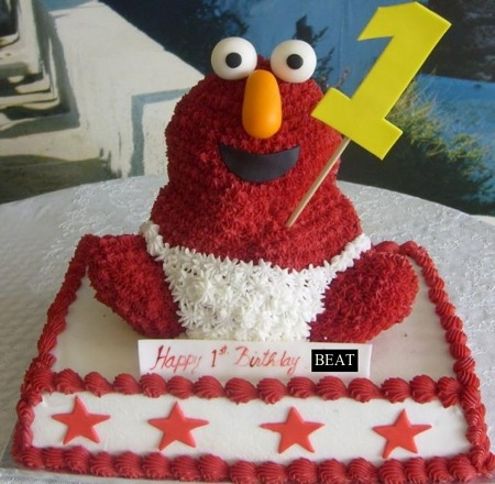 Baby-elmo-birthday-cake-for-one-year-old