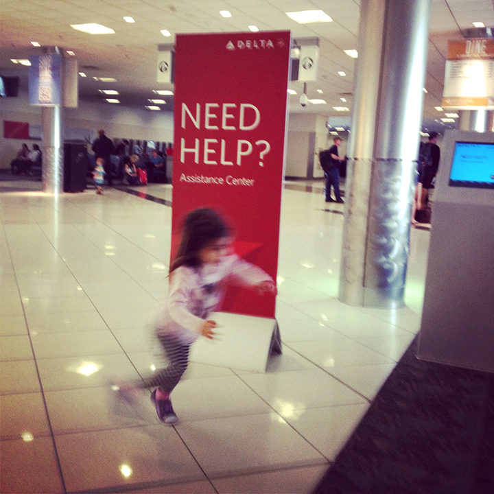 Airport-toddler